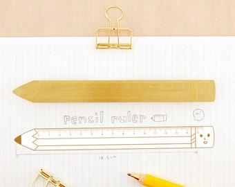 Pencil - Yohand Brass Ruler