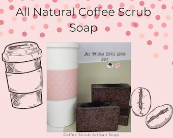 All natural, Cocoa, Coffee and Shea Butter Scrub Soap, Coffee exfoliant, coffee scrub soap