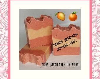 Mango Mandarin Artisan Soap, flirty, fresh and fruity!
