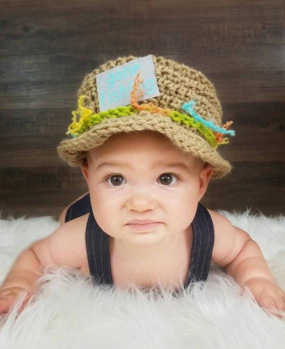 Baby Fishing Hat Baby Fisherman Hat Crochet Fishing Hat  1cbd9c269e7