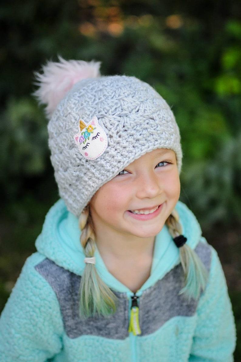 cbe3e9db583 Unicorn Hat Girl Unicorn Hat Crochet Unicorn Hat Girl
