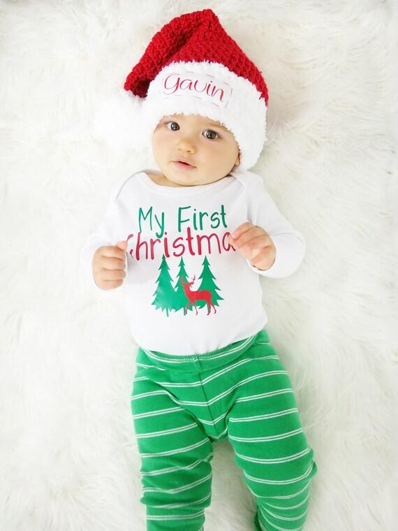 Child Santa Hat Personalized Santa Hat Crochet Santa Hat  ce7206ceca9