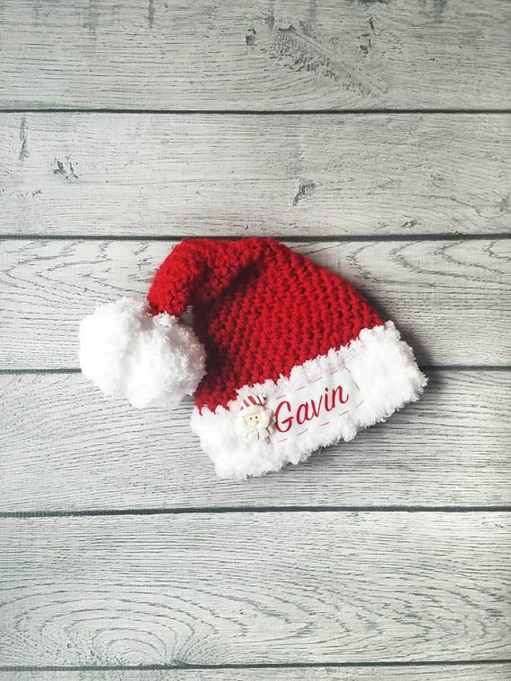 Baby Santa Hat Personalized Santa Hat Baby Christmas Hat  c3fa8ec42eb