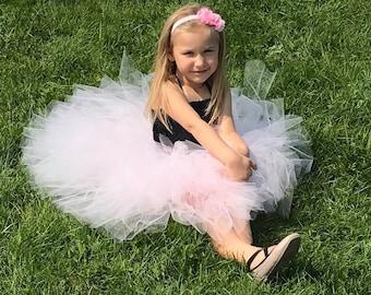 Flower girl dress -Tulle flower girl dress - Ivory Flower girl dress -Tulle dress- Pageant dress - Princess dress - infant/Toddler dress