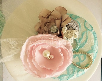 Vintage Tea Party Fascinator/ Bridal Headpiece/ Gift For her/ Tea Party/