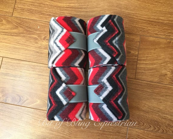 4 Red & Grey Chevron Polo Wraps