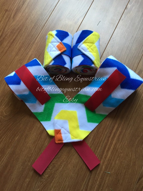 2 Rainbow Chevron Polo Wraps