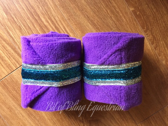 2 Polo Wraps with Custom Double Layer Glitter Ribbon