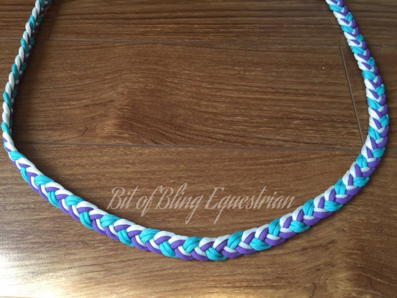 Lavender, Turquoise and White Paracord Neck Rope