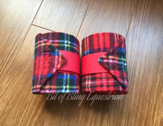 2 Red Plaid Polo Wraps