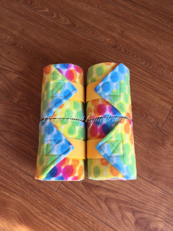 Rainbow Dots Polo Wraps - set of 4