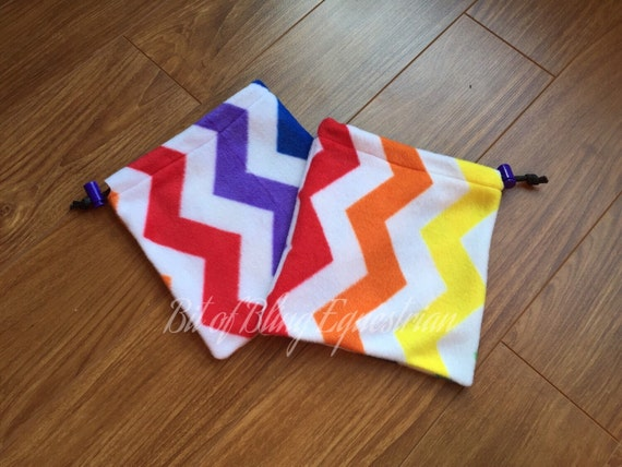 Rainbow Chevron Stirrup Covers - Ready To Ship