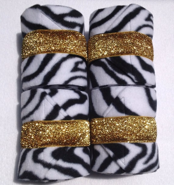 4 Custom Animal Print Bling Polo Wraps