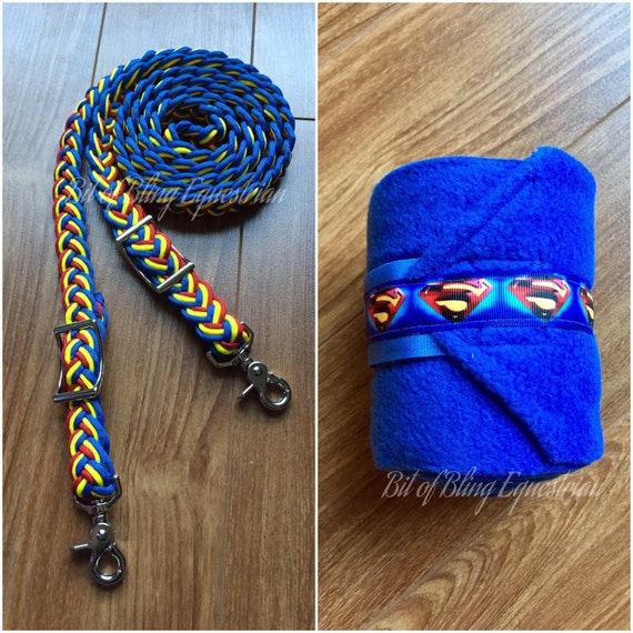 Superman Inspired Reins and Wraps Gift Set
