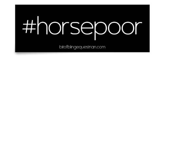 Horse Poor Vinyl Sticker