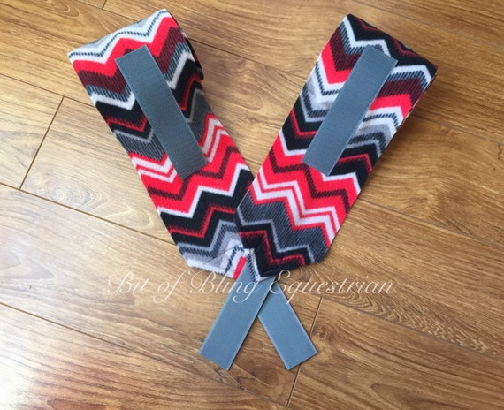 2 Red & Grey Chevron Polo Wraps