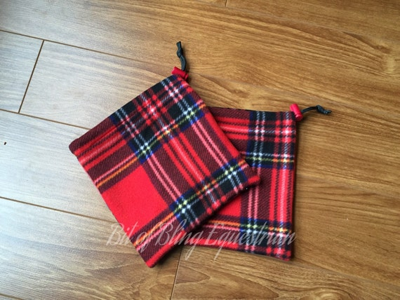 Red Plaid Stirrup Covers - Ready to ship
