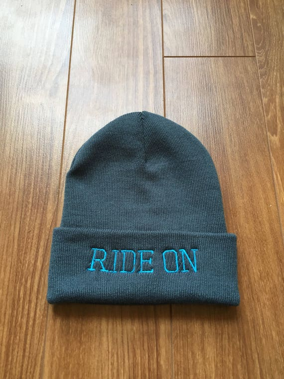 Ride On Grey Beanie Hat