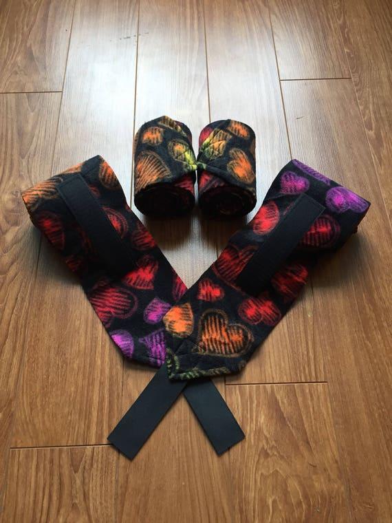 4 Rainbow Hearts Polo Wraps