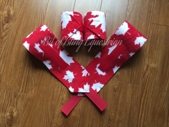 4 Maple Leaf Patterned Polo Wraps