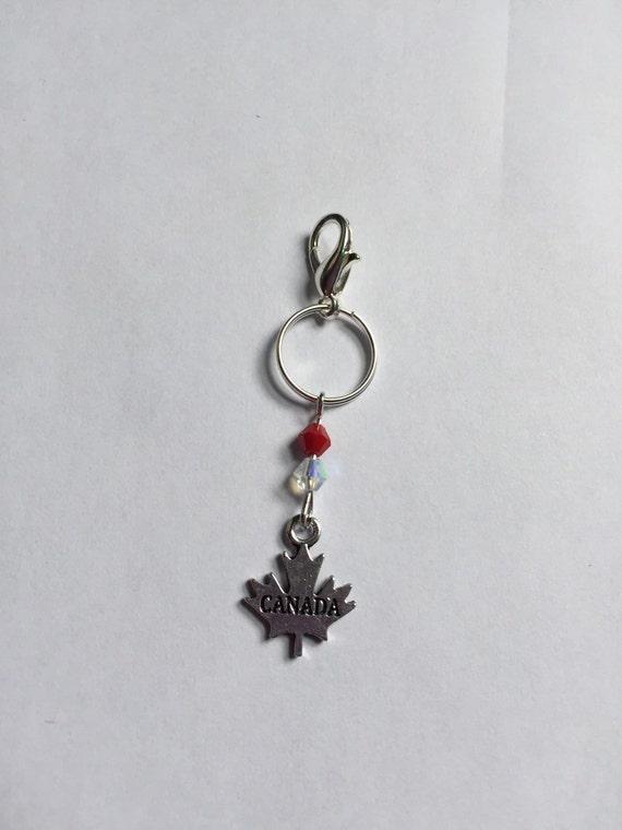 Canada Maple Leaf Bridle Charm