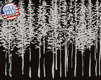 Black Forest Wallpaper - Gray Trees, Nature Decor, 56 square foot Bolt - Rustic Contemporary - Double Roll - 56 Square Feet - #BB50SO P1