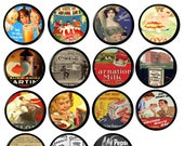 Farmhouse Style Kitchen Cabinet Knobs - Vintage Food Beverage Advertisements, Country Cottage - Cabinet Hardware, Drawer Pulls 317B12