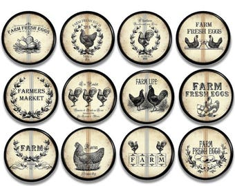 Rustic Country Kitchen Cabinet Knobs   Rooster Drawer Pulls   Shabby  Cottage Farmhouse, Hen,
