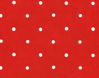 Adorable Bright Red White Polka Dot Wallpaper