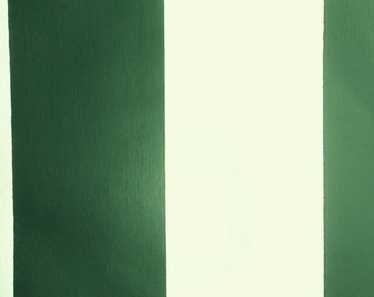 Forrest Green And White 325 Wide Stripe