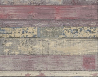 Rustic Weathered Old Wood Plank Wallpaper