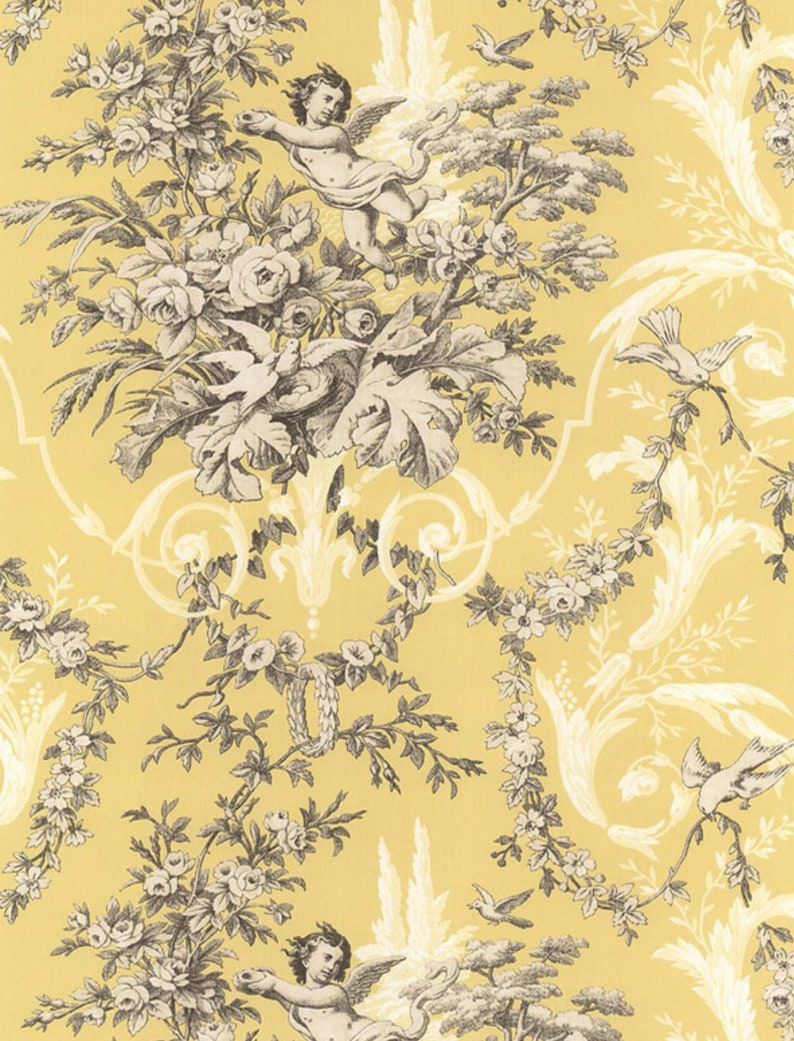 Torian Cherub Angel Wallpaper Country French Kitchen Wall Etsy
