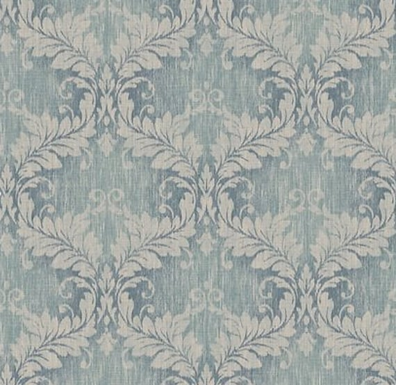 Distressed Blue Damask Wallpaper Vintage Style Weathered Living Room Wall Decor Old Victorian Shabby Chic Bathroom 5 X7 Sample G34130so