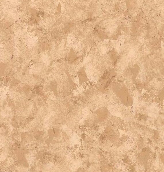 Beige and Tan Faux Stucco Wallpaper Sponged Plaster Tuscan