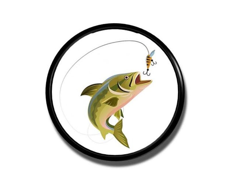 Set Of 12 Handmade Fishing Wood Knob Cabinet Pulls Bass Trout Fish