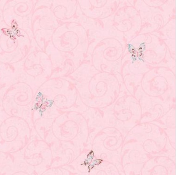 Pastel Butterfly Wallpaper Faux Sponge Texture Teen Girl Boho Room Bohemian Fantasy Accent Princess Garden Nursery By The Yard Ck7617