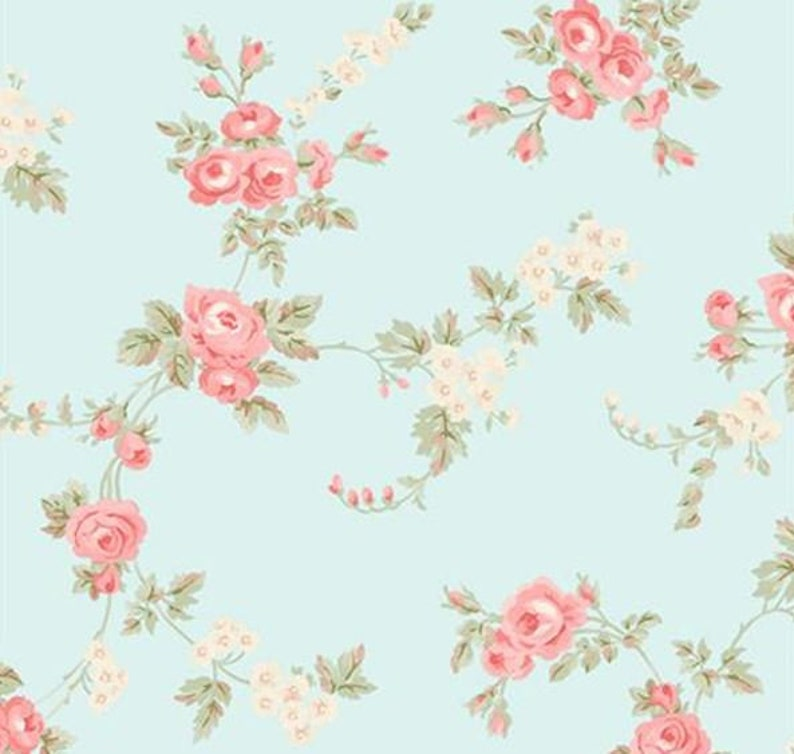 shabby cottage chic wallpaper softly colored pink aqua etsy rh etsy com shabby chic wallpaper iphone shabby chic wallpaper iphone