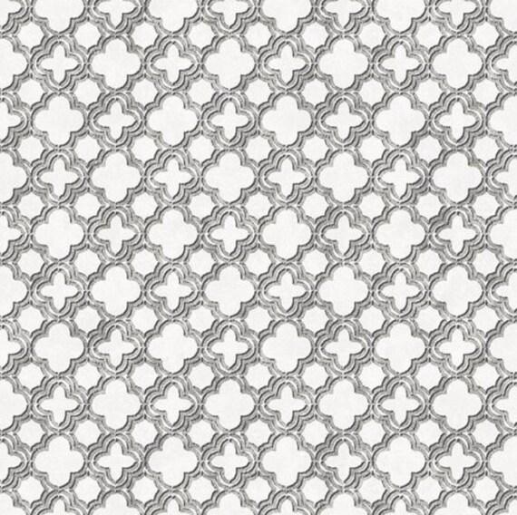 Black White Geometric Wallpaper Trendy Scandinavian Quatrefoil Chevron Link Modern Lattice Sophisticated Decor By The Yard Cs35617so