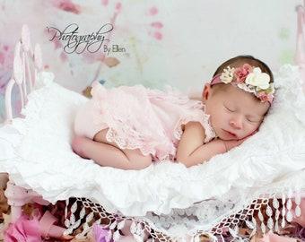 ee13aedc7162 Rose.Newborn girl photo prop