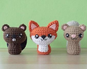 Crochet Fox Pattern, Crochet Squirrel Pattern and Beaver Amigurumi Pattern - Backyard Critters 1