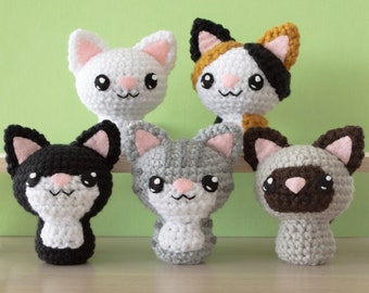 Crochet Cat Amigurumi Pattern - Swat Team Kitties