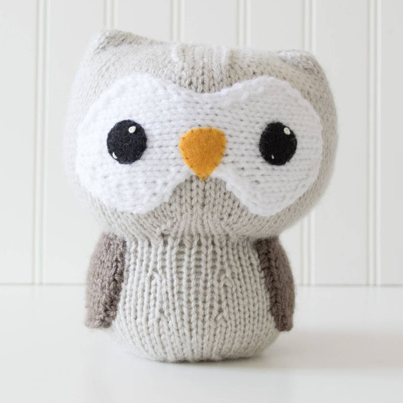 Knit Owl Amigurumi Pattern  Forest Animal  Amigurumi image 0