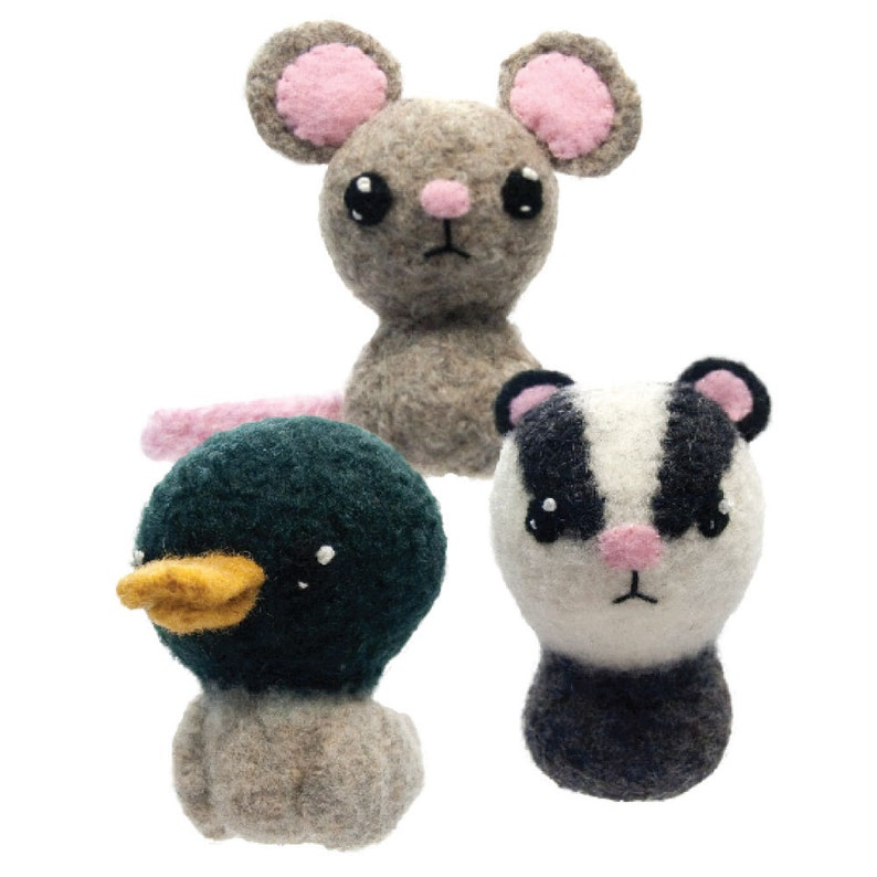 Backyard Critters 7 Felted Knitting Amigurumi Pattern with image 0