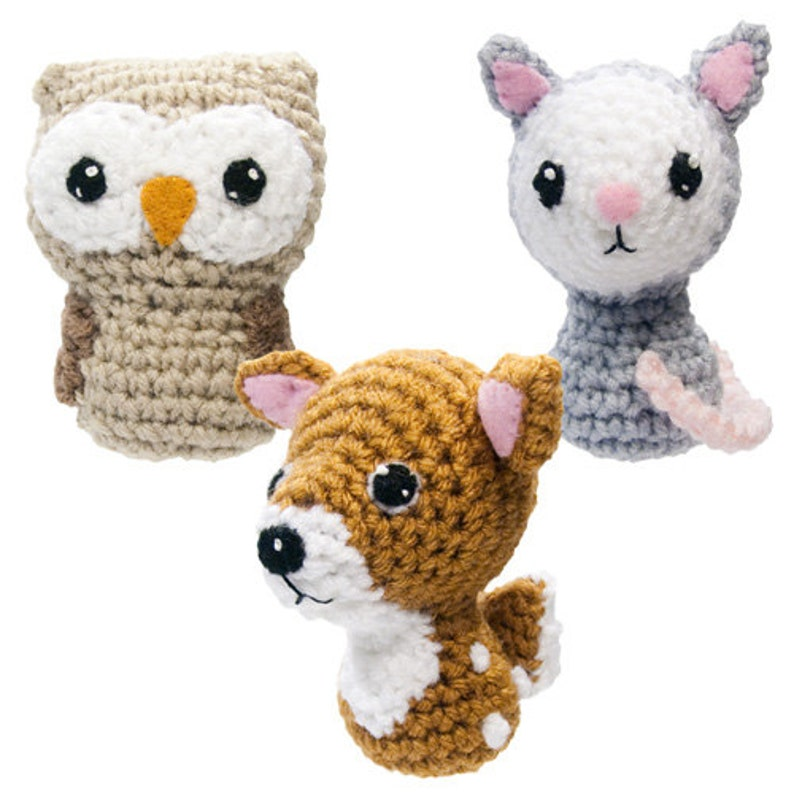 Backyard Critters 4 Crochet Amigurumi Pattern with Owl Deer image 0