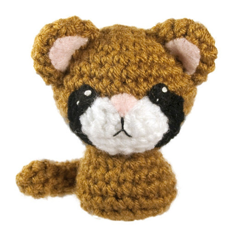 Backyard Critters 5 Crochet Amigurumi Pattern with Cougar image 0