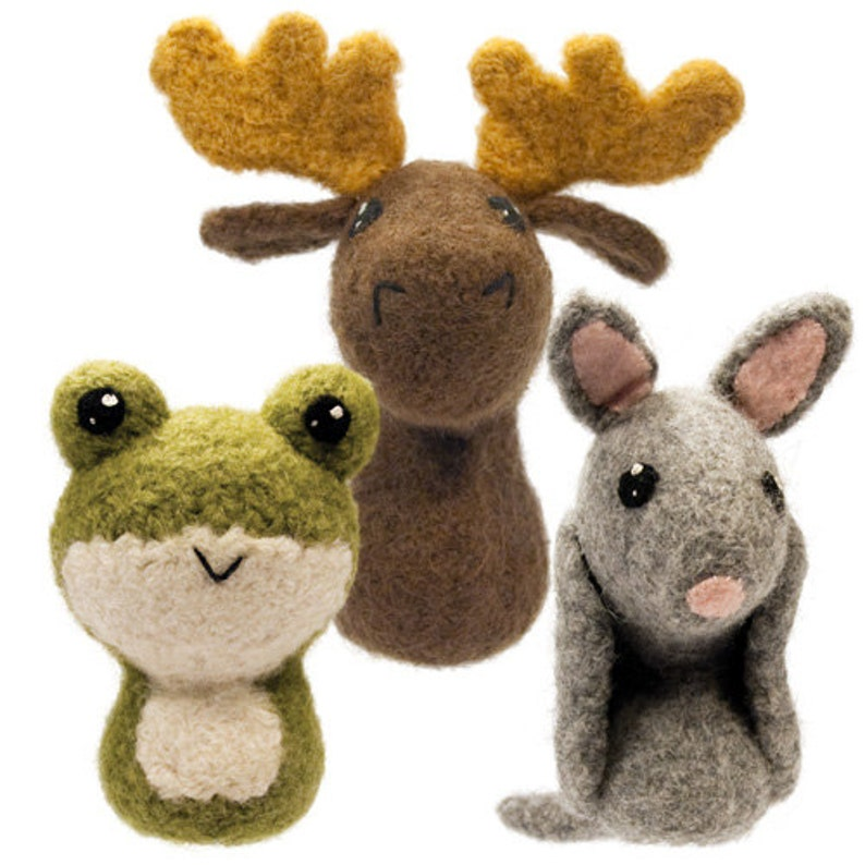 Backyard Critters 6 Felted Knitting Amigurumi Pattern with image 0