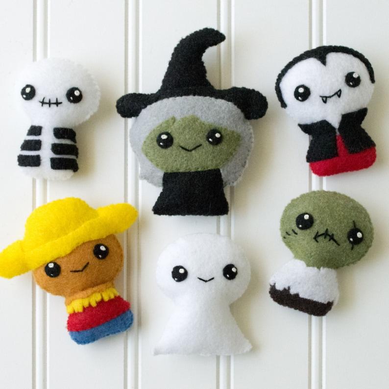 Trick or Treat Halloween Felt Sewing Pattern image 0