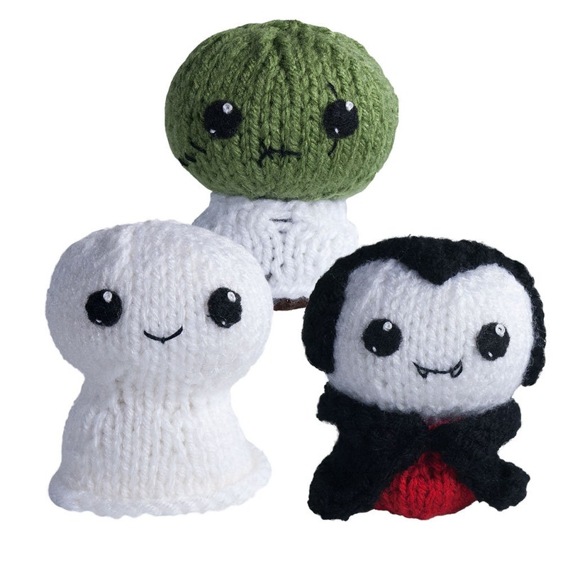 Trick or Treat 1 Halloween Knit Amigurumi Pattern with Ghost image 0