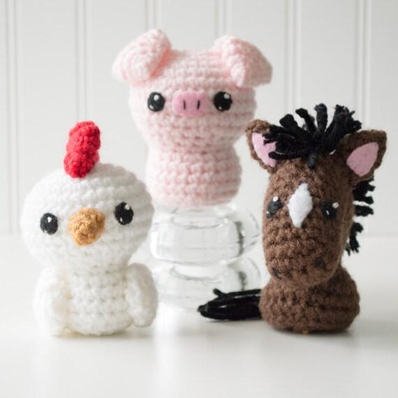 Born In A Barn 1 Amigurumi Pattern Horse Crochet Pattern Etsy