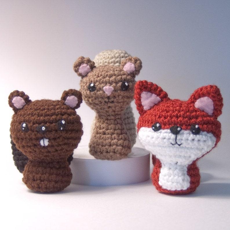 Backyard Critters 1 Crochet Amigurumi Pattern with Beaver image 0